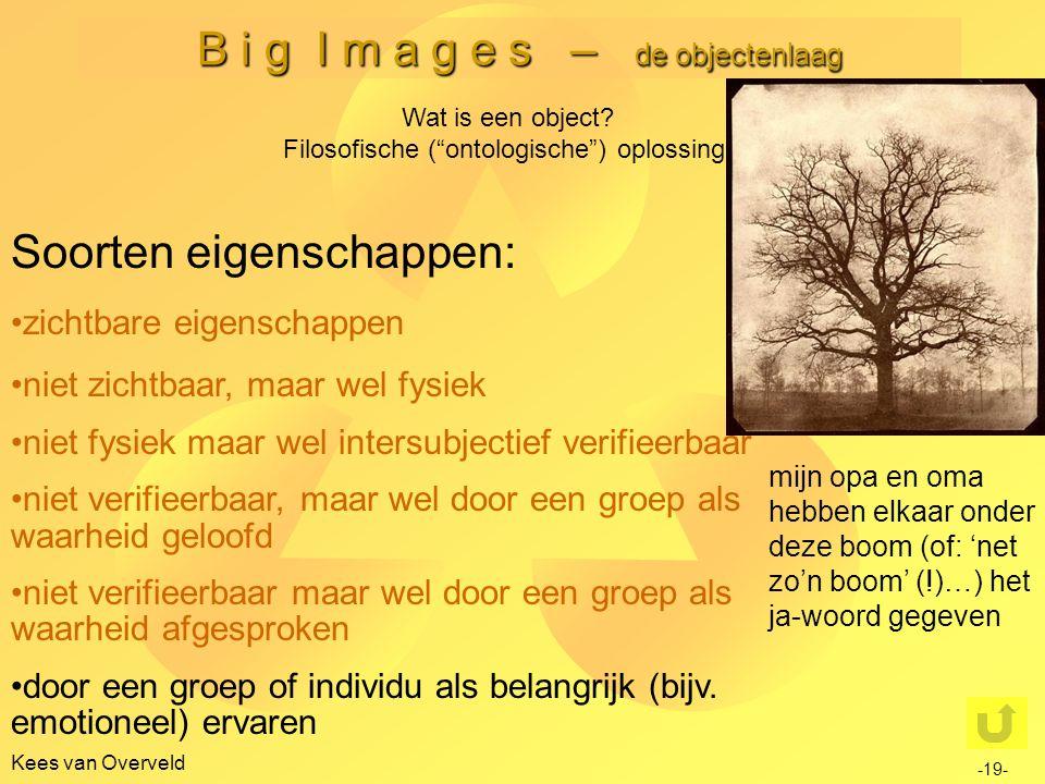 B i g I m a g e s – de objectenlaag Kees van Overveld -19- Wat is een object.