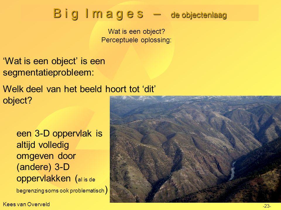 B i g I m a g e s – de objectenlaag Kees van Overveld -23- Wat is een object.