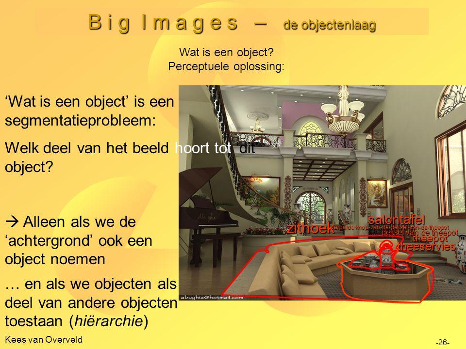 B i g I m a g e s – de objectenlaag Kees van Overveld -26- Wat is een object.