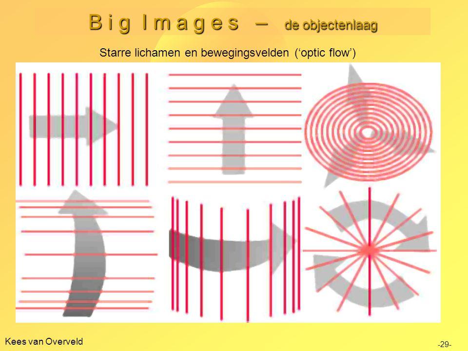 B i g I m a g e s – de objectenlaag Kees van Overveld Starre lichamen en bewegingsvelden ('optic flow') -29-
