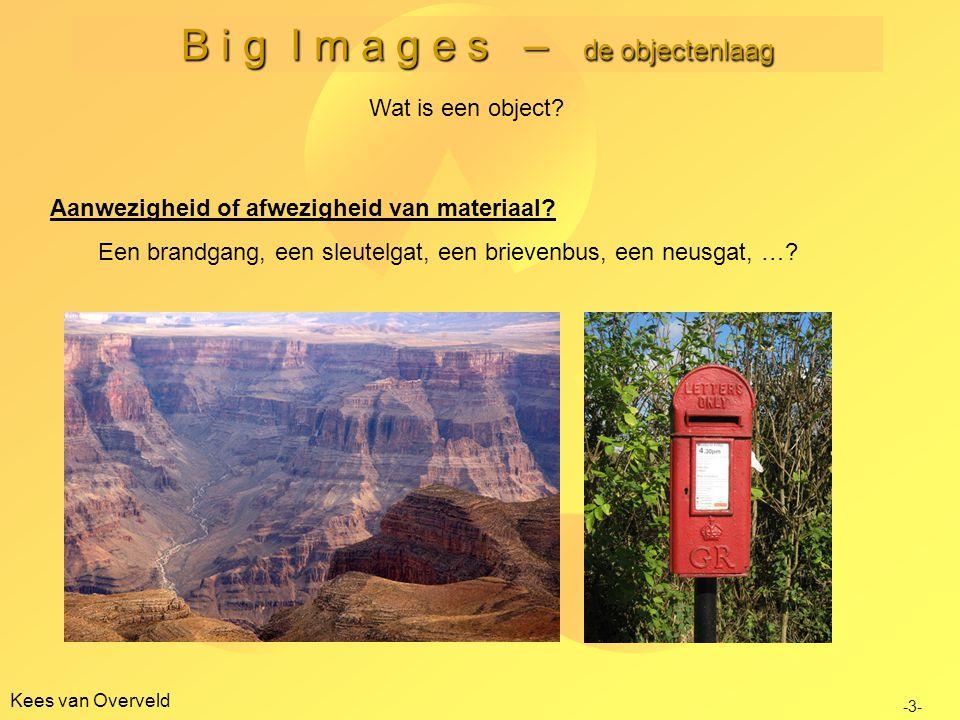 B i g I m a g e s – de objectenlaag Kees van Overveld Wat is een object.