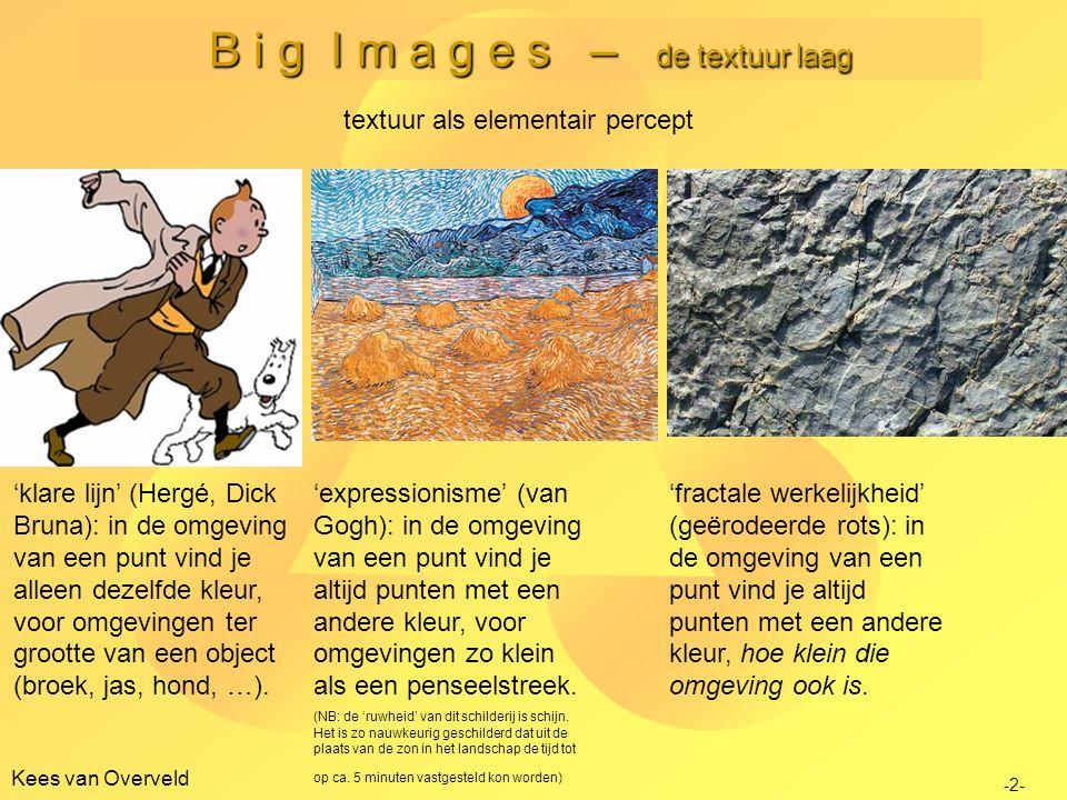 B i g I m a g e s – de textuur laag Kees van Overveld -3- textuur als elementair percept