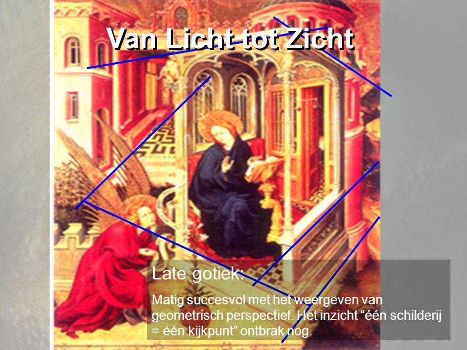 Late gotiek: Matig succesvol met het weergeven van geometrisch perspectief.
