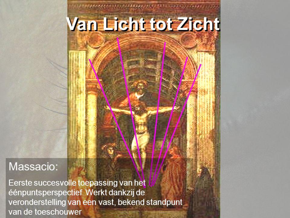 Van Licht tot Zicht Massacio: Eerste succesvolle toepassing van het éénpuntsperspectief.