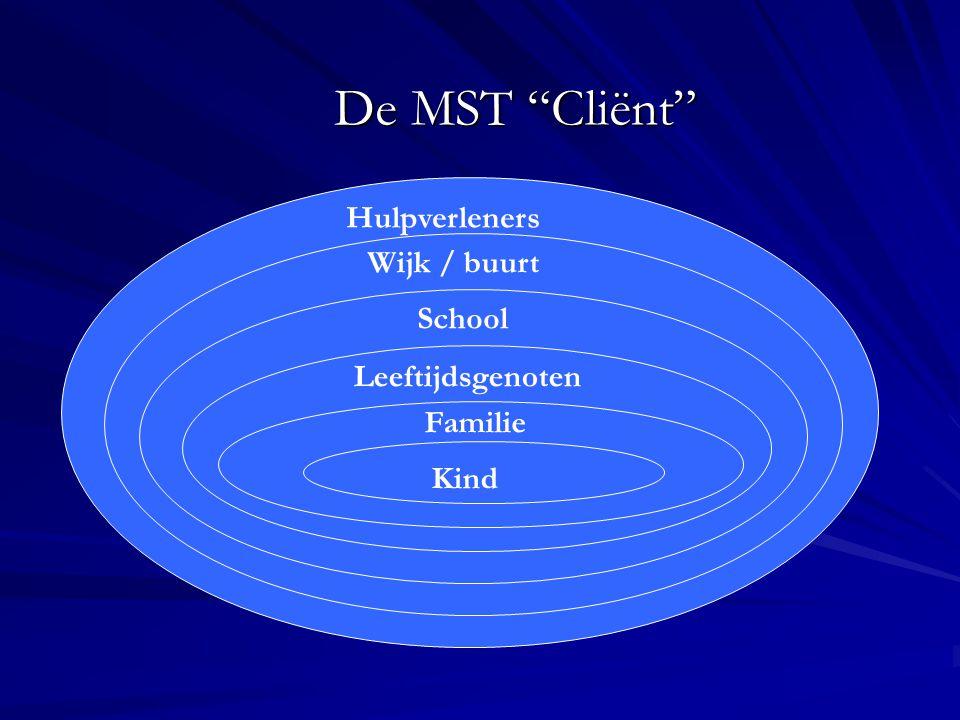 """De MST """"Cliënt"""" Kind Familie Leeftijdsgenoten School Wijk / buurt Hulpverleners"""