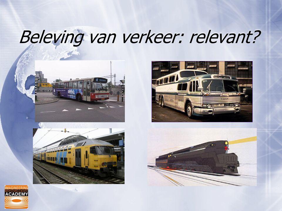 Beleving van verkeer: relevant?