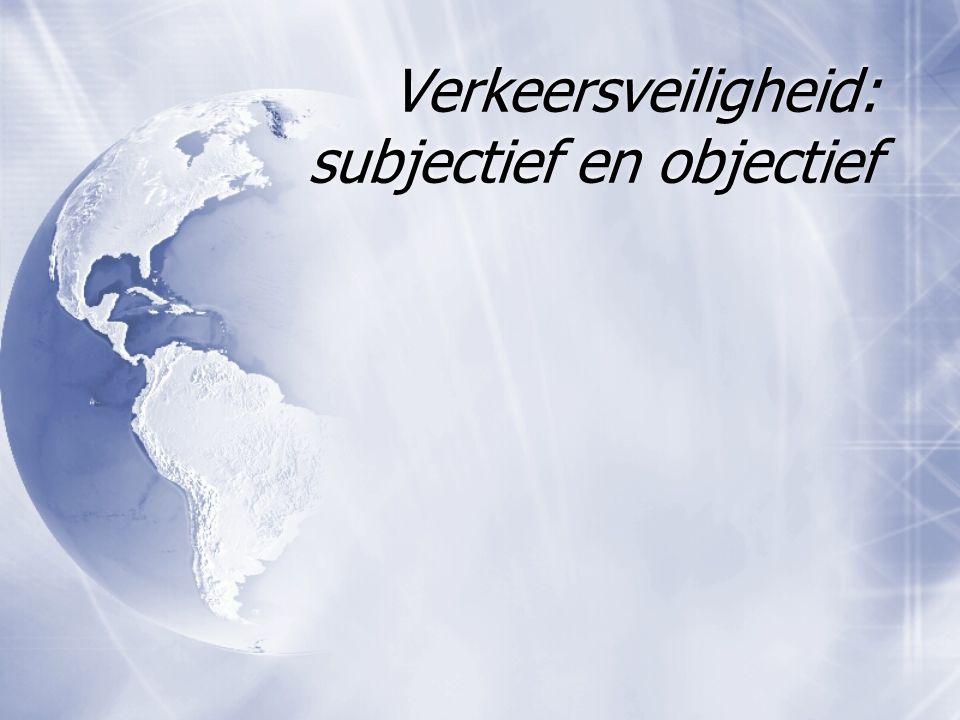 Verkeersveiligheid: subjectief en objectief