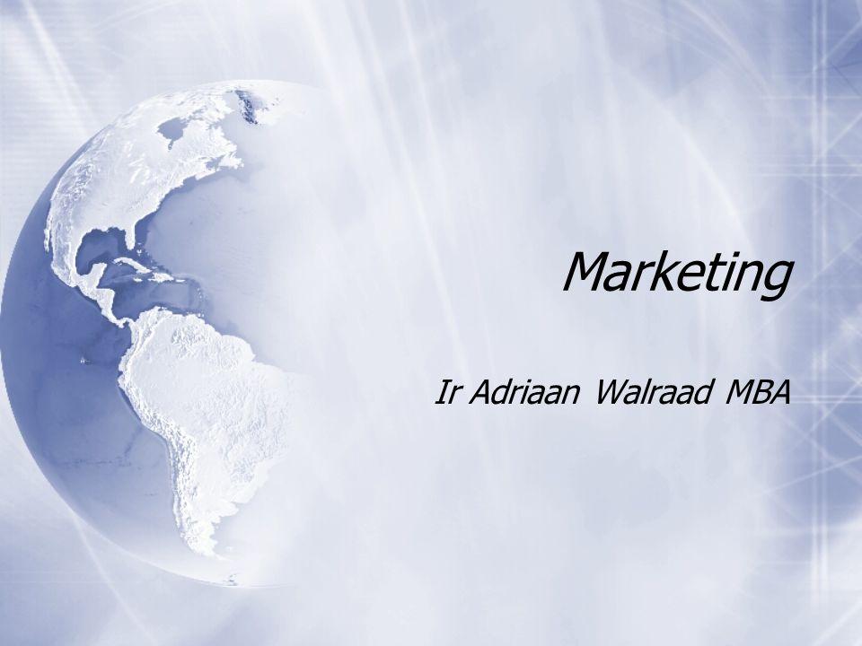 Marketing Ir Adriaan Walraad MBA