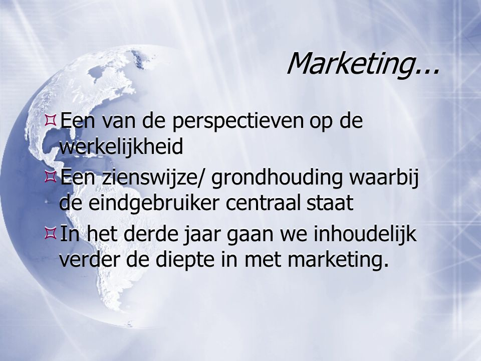 Marketing...