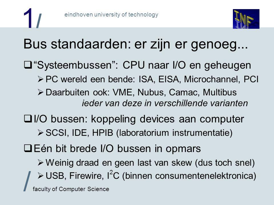 1/1/ eindhoven university of technology / faculty of Computer Science Bus standaarden: er zijn er genoeg...