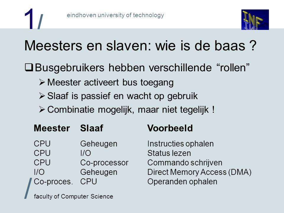 1/1/ eindhoven university of technology / faculty of Computer Science Meesters en slaven: wie is de baas .