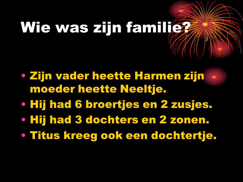 Waar woonde Rembrandt ? Hij woonde eerst in Leiden. Hij verhuisde daarna naar Amsterdam. Hij verhuisde later weer maar alleen naar een andere straat i