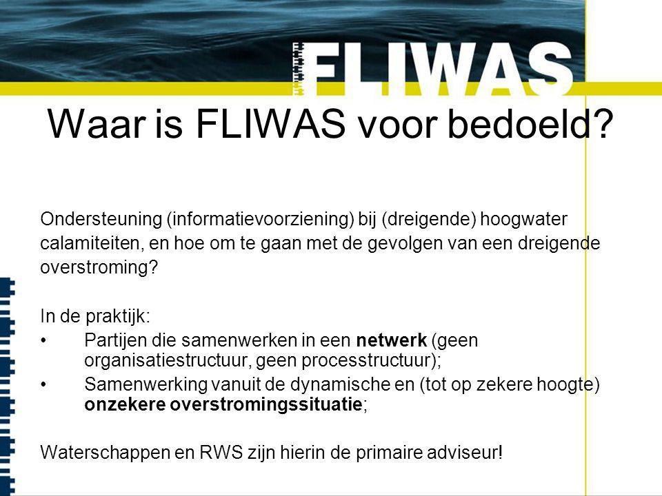 Waar is FLIWAS voor bedoeld.