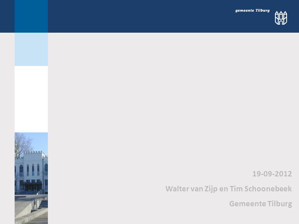 19-09-2012 Walter van Zijp en Tim Schoonebeek Gemeente Tilburg