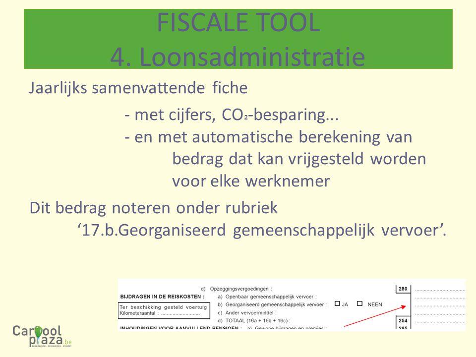 Jaarlijks samenvattende fiche - met cijfers, CO ² -besparing...