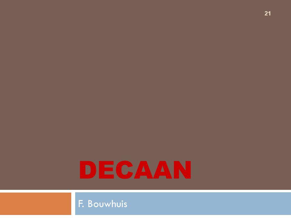 21 DECAAN F. Bouwhuis