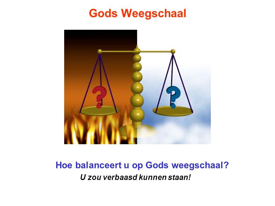 Gods Weegschaal Hebt u zich ooit voorgesteld wat er gebeuren zal nadat u sterft.