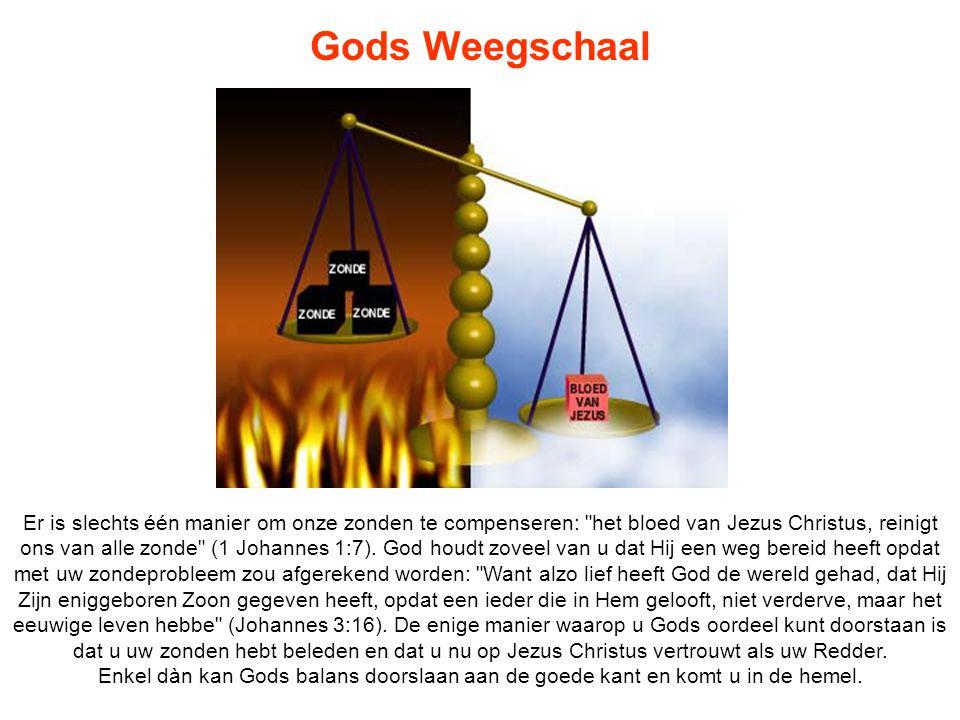 Gods Weegschaal Er is slechts één manier om onze zonden te compenseren: