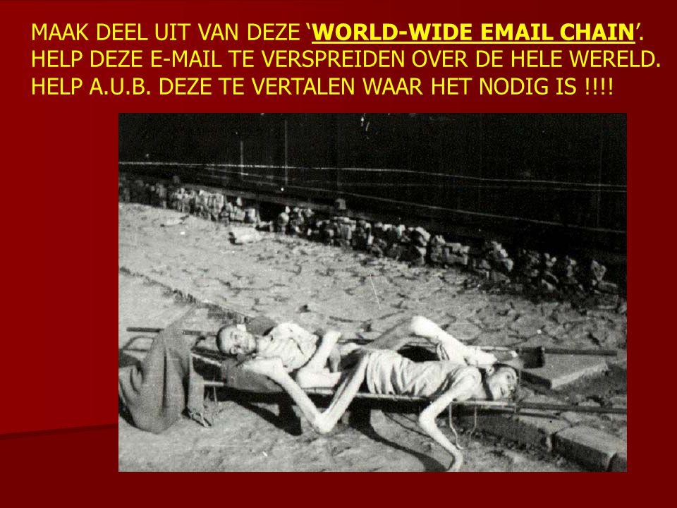 MAAK DEEL UIT VAN DEZE 'WORLD-WIDE EMAIL CHAIN'. HELP DEZE E-MAIL TE VERSPREIDEN OVER DE HELE WERELD. HELP A.U.B. DEZE TE VERTALEN WAAR HET NODIG IS !