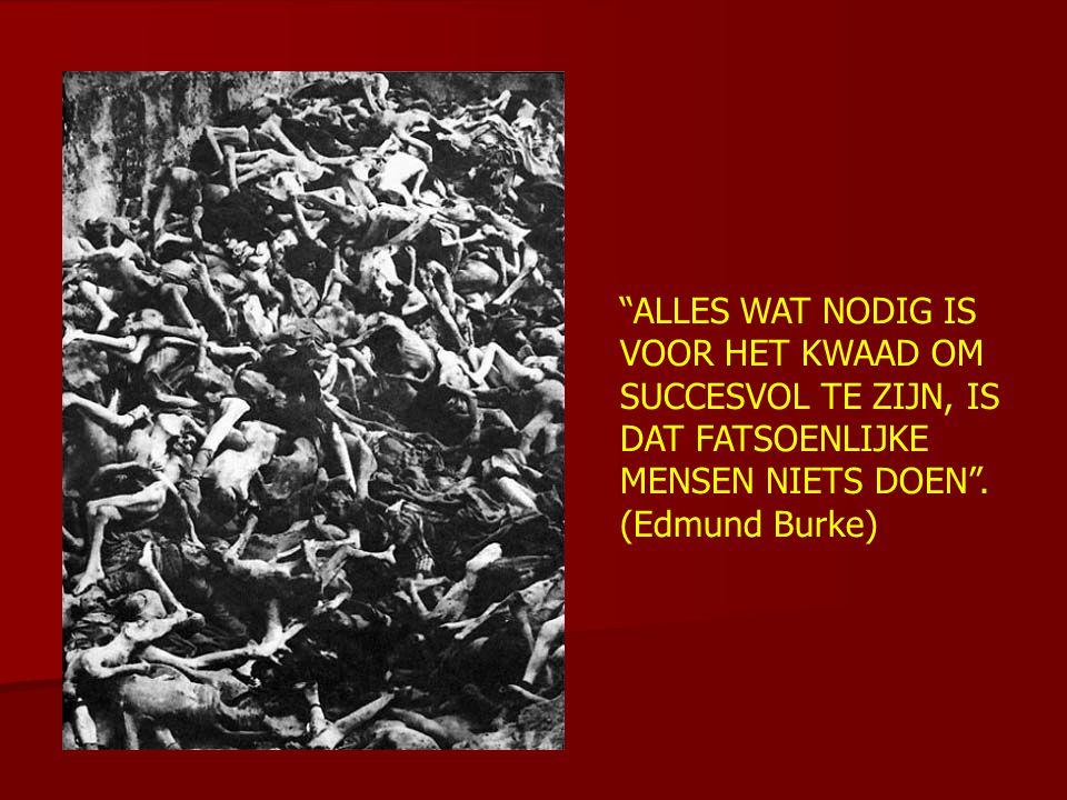 """""""ALLES WAT NODIG IS VOOR HET KWAAD OM SUCCESVOL TE ZIJN, IS DAT FATSOENLIJKE MENSEN NIETS DOEN"""". (Edmund Burke)"""