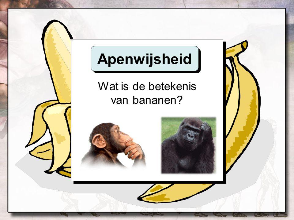 Wat is de betekenis van bananen? Apenwijsheid