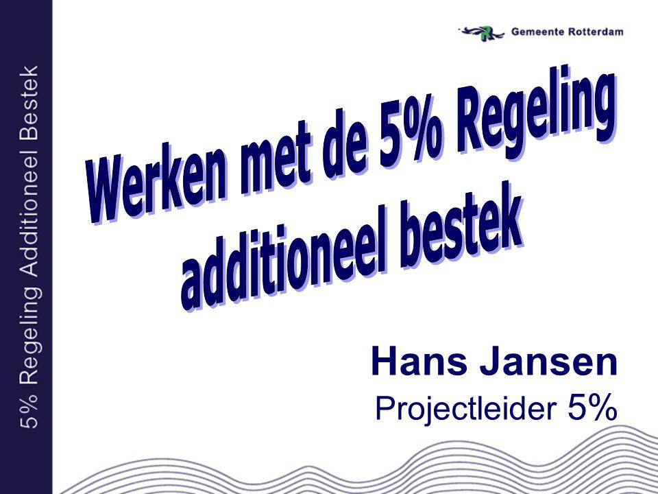 Hans Jansen Projectleider 5%