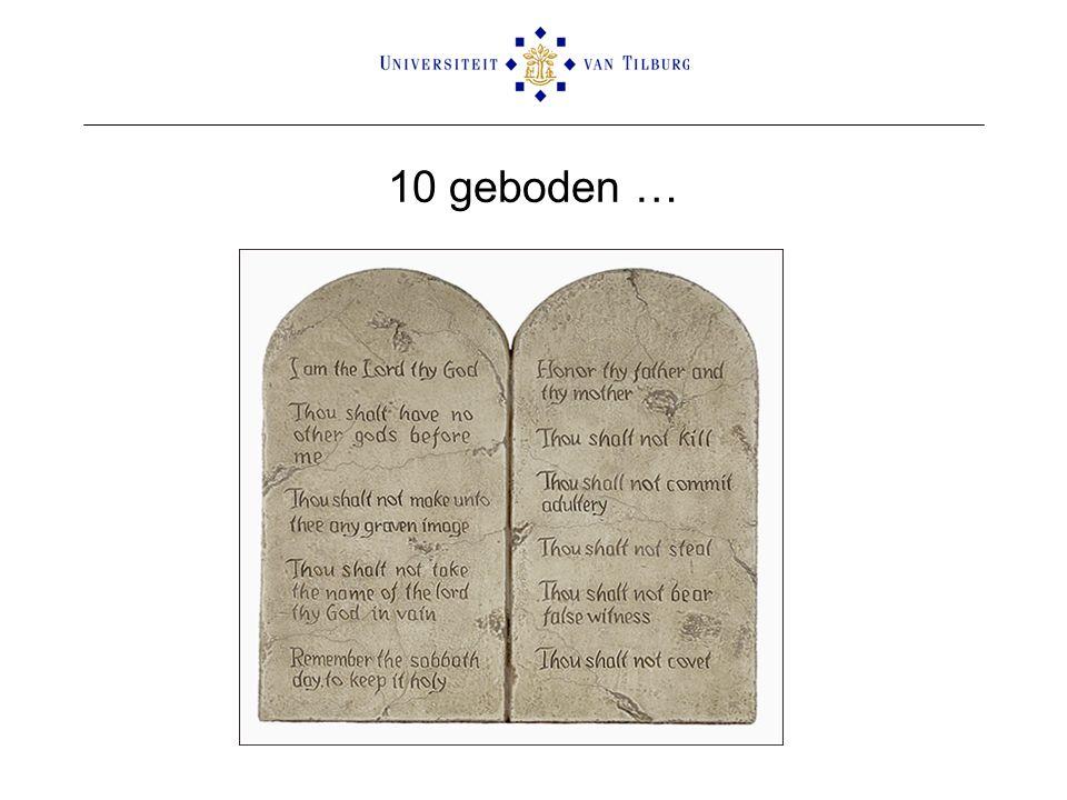 10 geboden …