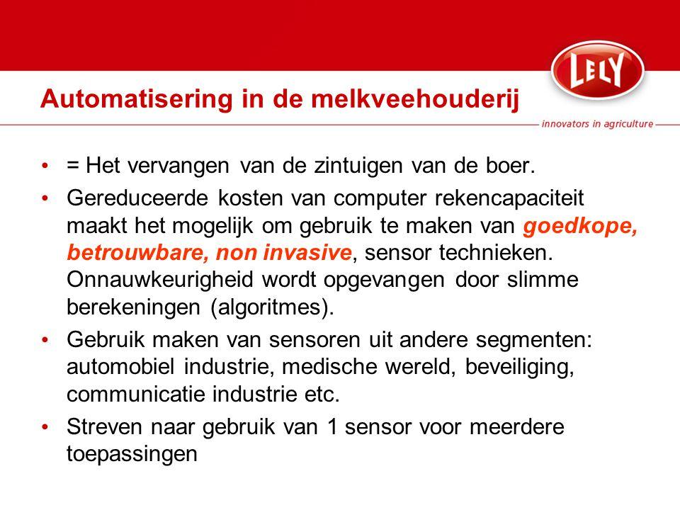 Automatisering in de melkveehouderij = Het vervangen van de zintuigen van de boer.