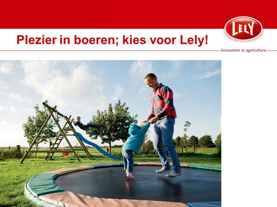 Plezier in boeren; kies voor Lely!