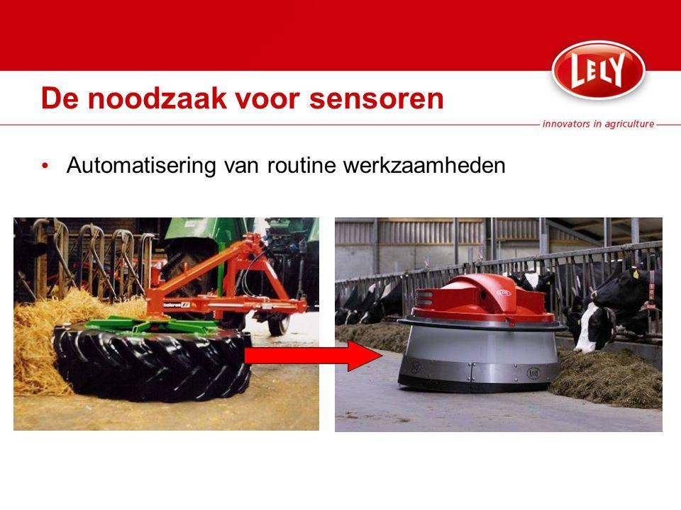 Automatisering van routine werkzaamheden De noodzaak voor sensoren
