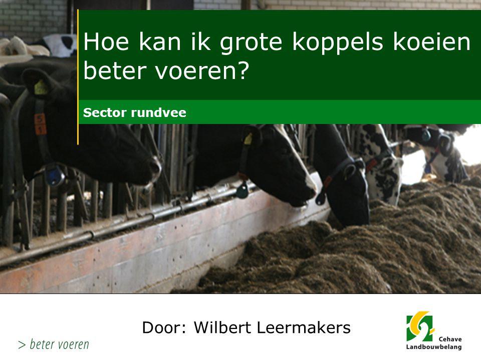 Hoe kan ik grote koppels koeien beter voeren Melkproces: - het enige proces waar de 'geldmeter ' de goede kant in draait……..