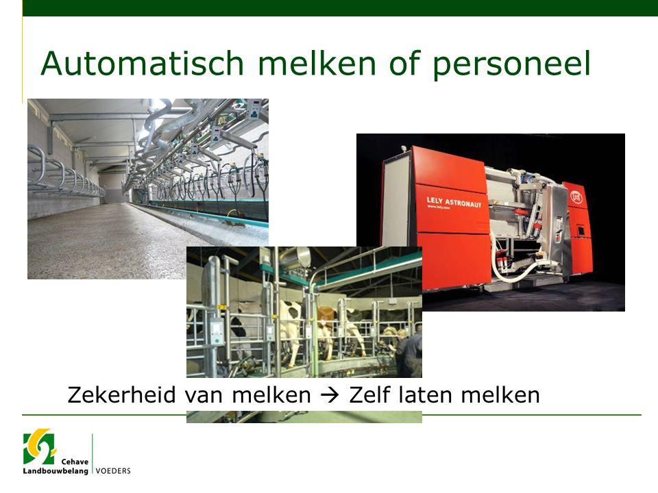 Automatisch melken of personeel Zekerheid van melken  Zelf laten melken