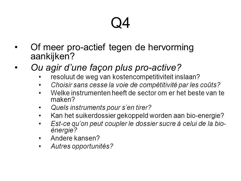 Q4 Of meer pro-actief tegen de hervorming aankijken.