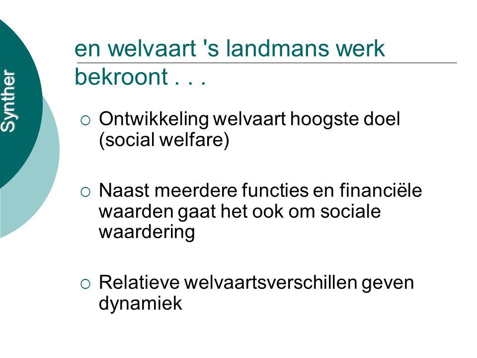 Synther en welvaart s landmans werk bekroont...