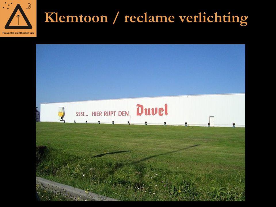 Klemtoon / reclame verlichting