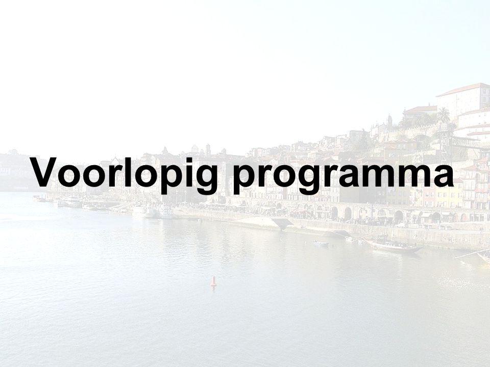 Voorlopig programma