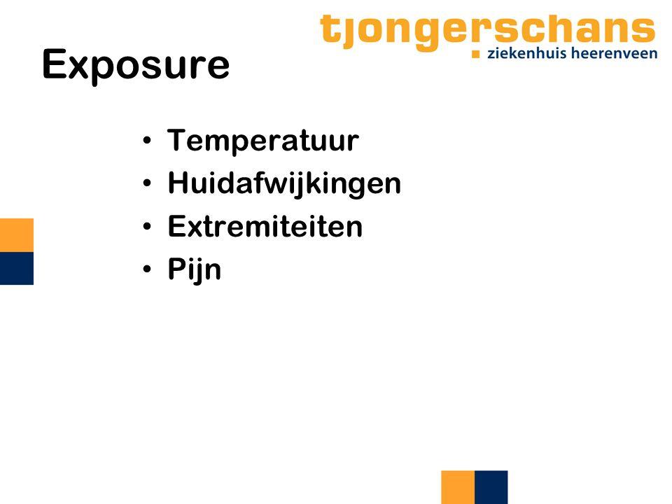 Exposure Temperatuur Huidafwijkingen Extremiteiten Pijn