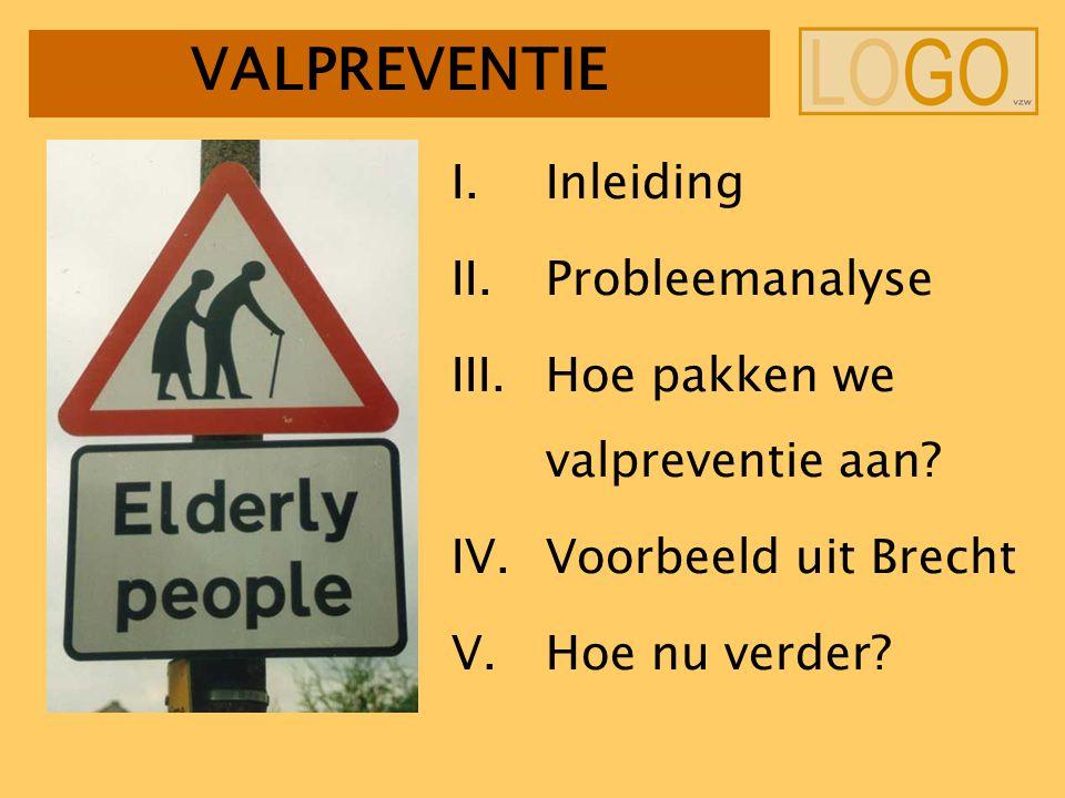 VALPREVENTIE I.Inleiding II.Probleemanalyse III.Hoe pakken we valpreventie aan.