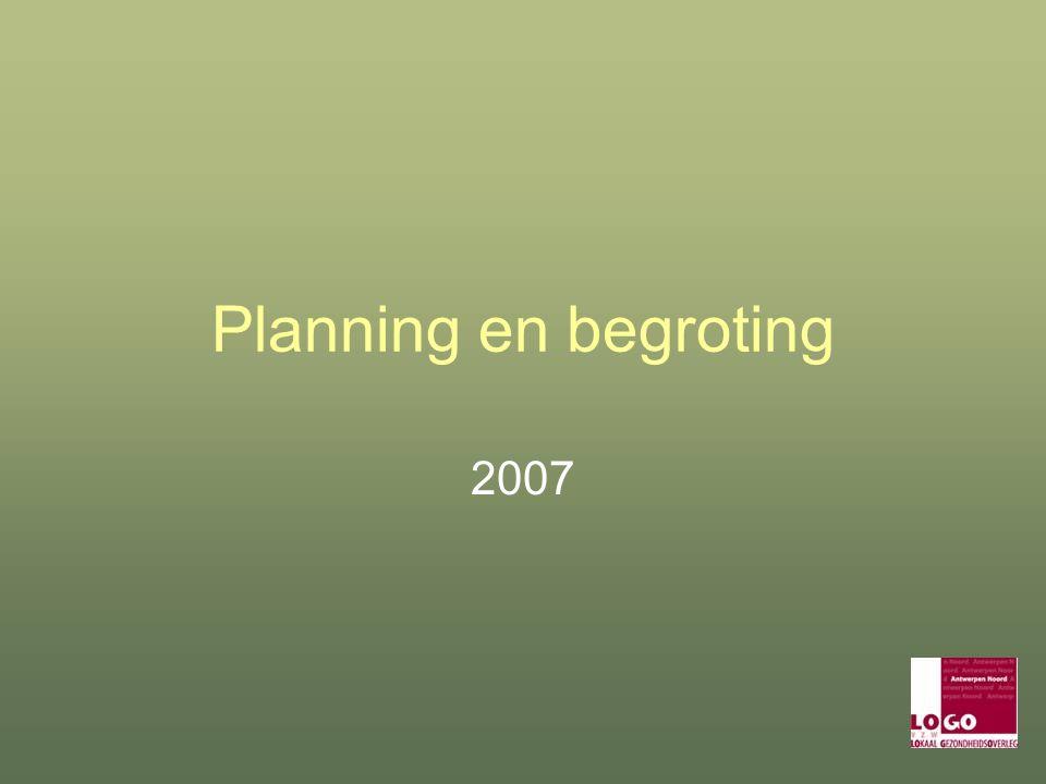 Planning en begroting 2007