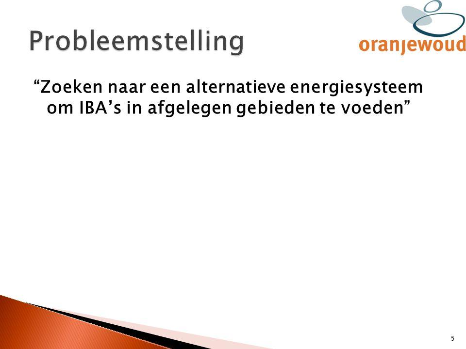 """""""Zoeken naar een alternatieve energiesysteem om IBA's in afgelegen gebieden te voeden"""" 5"""