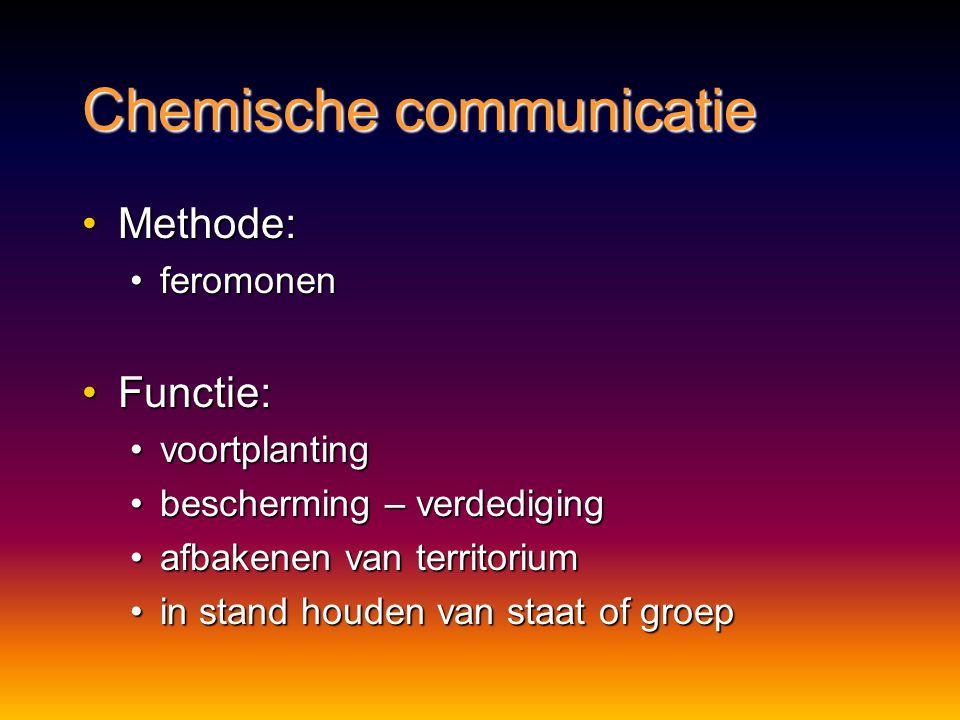 Visuele communicatie Voordelen:Voordelen: selectieve signalenselectieve signalen Nadelen:Nadelen: beperkt in bereikbeperkt in bereik hinder van obstak