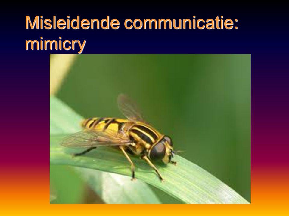 Misleidende communicatie: mimicry
