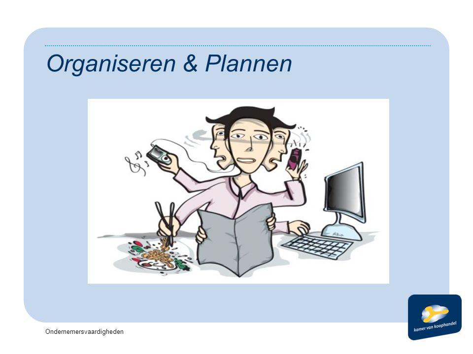 Ondernemersvaardigheden Organiseren & Plannen