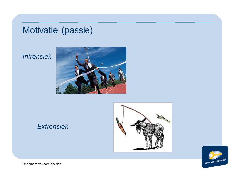 Ondernemersvaardigheden Motivatie (passie) Intrensiek Extrensiek