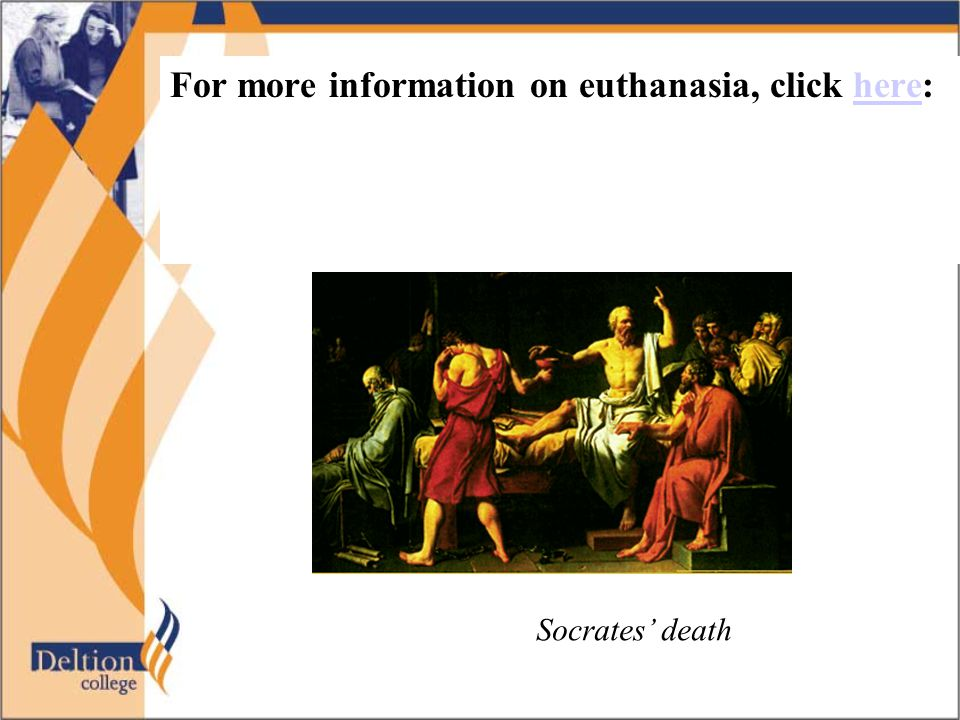 General tips and hints Euthanasia is a very sensitive issue.