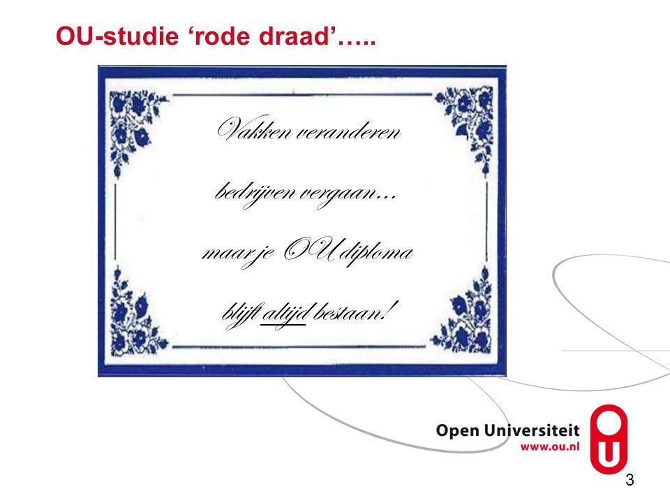 3 OU-studie 'rode draad'…..