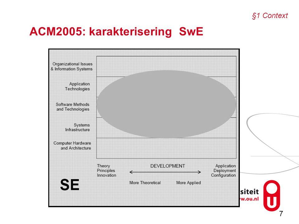 7 ACM2005: karakterisering SwE §1 Context