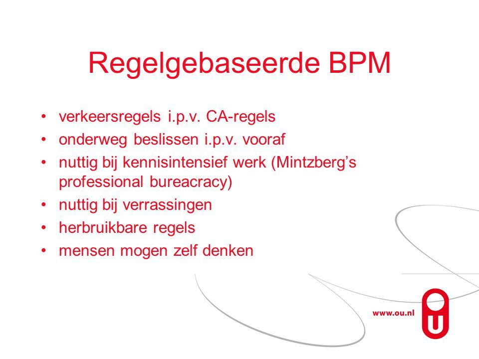 Regelgebaseerde BPM verkeersregels i.p.v. CA-regels onderweg beslissen i.p.v.