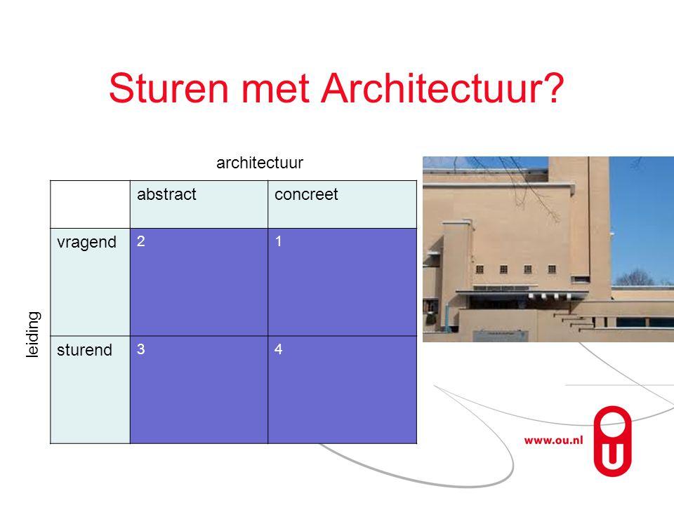 Sturen met Architectuur abstractconcreet vragend 21 sturend 34 architectuur leiding
