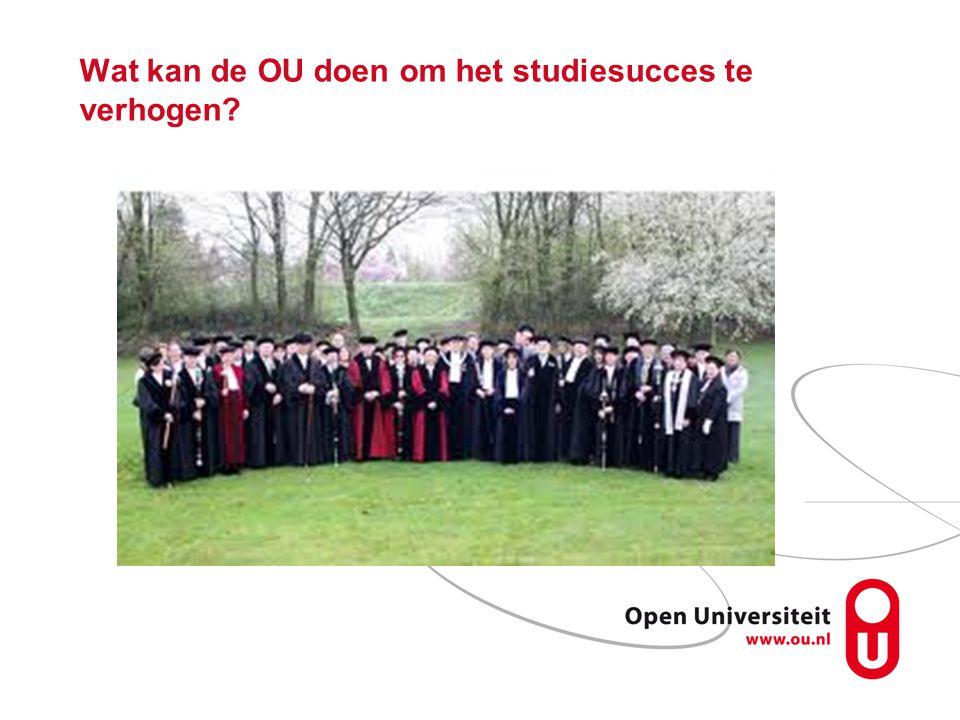 Wat kan de OU doen om het studiesucces te verhogen?